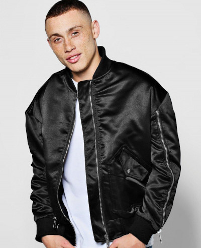 Zipper-Detail-Satin-Varsity-Bomber-Jacket