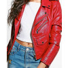 New-Most-Selling-Crop-Leather-Look-Biker-Jacket