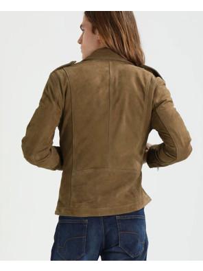 Brown-Real-Suede-Moto-Biker-Leather-Jacket