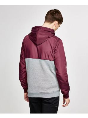 Burgundy-Half-Zipper-Pullover-Hoodie