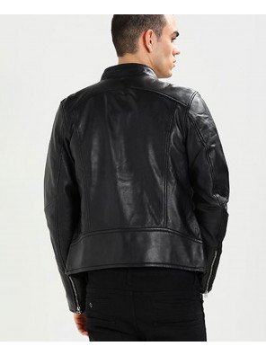 Classic-Men-Biker-Real-Leather-Jacket