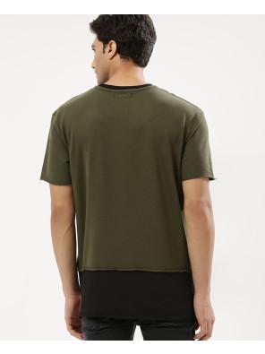 Contrast-Panel-Crew-Neck-Sweatshirt