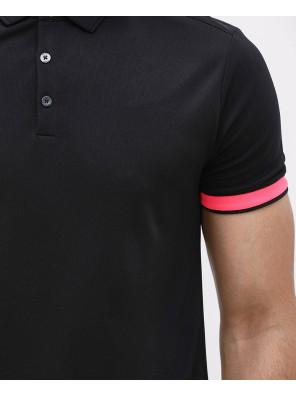 Contrast-Sleeve-Rib-Polo-T-Shirt