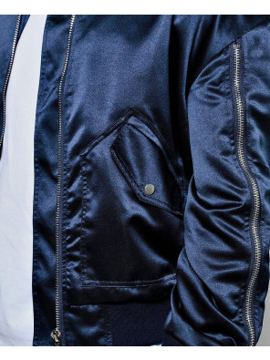 Full-Zipper-Though-Knitted-Varsity-Bomber-Jacket