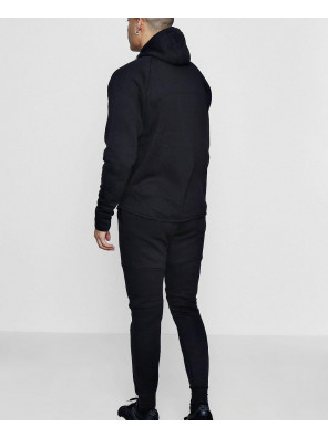 Hot-Selling-Black-Men-Skinny-Fit-Sport-Hooded-Tracksuit