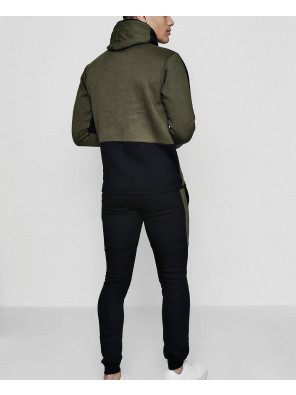 Hot-Selling-Skinny-Contrast-Hooded-Tracksuit