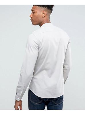 Men-High-Quality-Stretch-Slim-Denim-Western-Shirt-With-Grandad-Collar