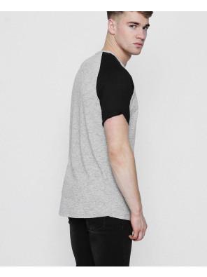 Men-Longline-Raglan-Knitted-Grey-T-Shirt