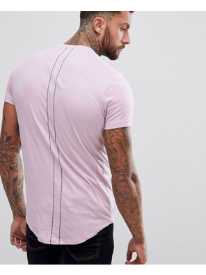 Men-Longline-With-Curved-Hem-And-Double-Neck-In-Purple-T-Shirt