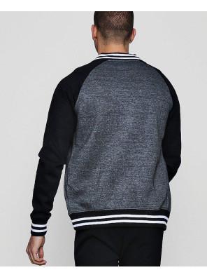 Men-Raglan-Sleeve-Zipper-Colour-Block-Raglan-Jersey-Rib-Bomber-Sweatshirt