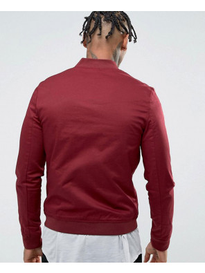 Muscle-Fit-Bomber-Jacket-With-Sleeve-Zipper