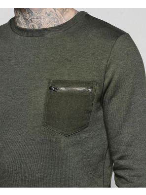 New-Hot-Selling-Men-Fashion-Pocket-Crew-Neck-Sweater-Sweatshirt