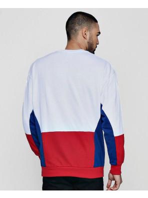 New-Men-High-Quality-Fleece-Colour-Block-Retro-Sweater-Sweatshirt