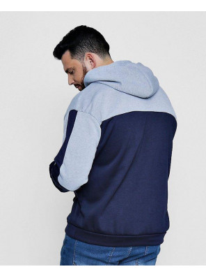 New-Stylish-Big-And-Tall-Colour-Block-Over-The-Head-Hoodie