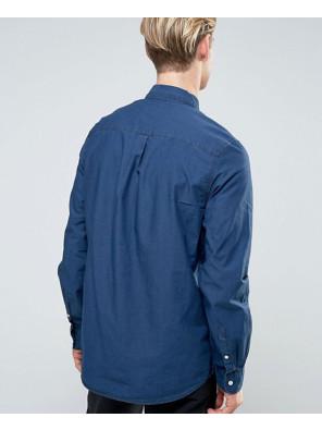 New-Stylish-Class-Denim-Shirt-Blue