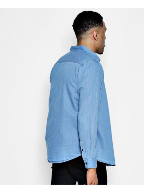 New-Stylish-Denim-Shirt-in-Pale-Blue