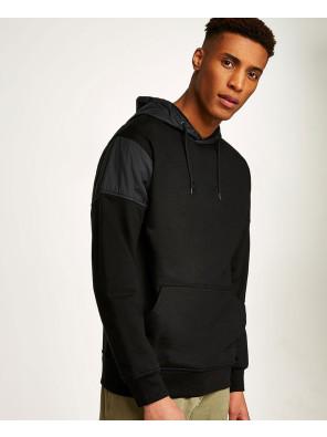 Pullover-Fashionable-Khaki-Tech-Panel-Hoodie