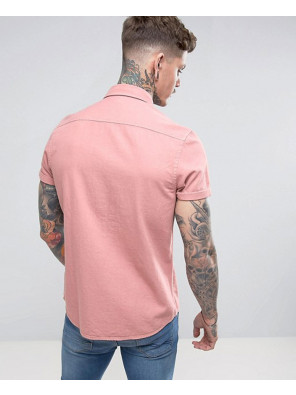 Regular-Fit-Denim-Shirt-In-Pink