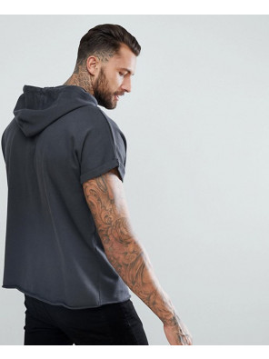 Short-Sleeve-Oversized-Hoodie-In-Washed-Black