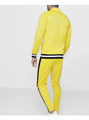 Skinny-Fit-Funnel-Neck-Sports-Tracksuit