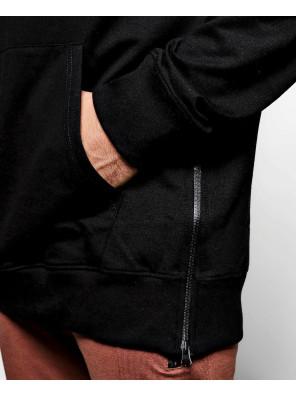 Skinny-Fit-Custom-Branded-Side-Zipper-Black-Hoodie