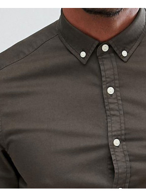 Stretch-Slim-Denim-Shirt