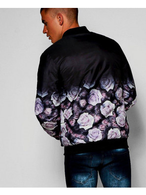 Sublimation-Customized-Satin-Oriental-Floral-Bomber-Varsity-Jacket