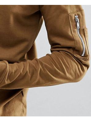 Sweat-With-Zip-Pocket-Detail-In-Khaki
