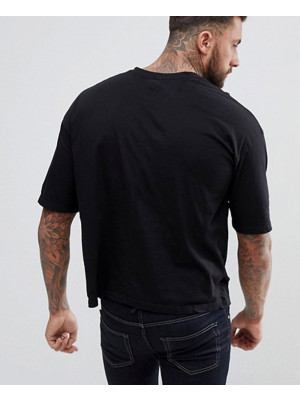 Boxy-Fit-With-Dropped-Shoulder-In-Black-T-Shirts