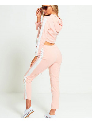 Custom-Design-Women-Pink-Fleece-Tracksuit