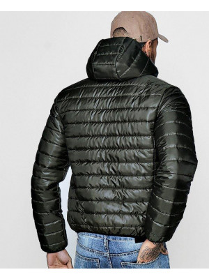 Men-Hooded-Zipper-Through-Lightweight-Puffer-Jacket