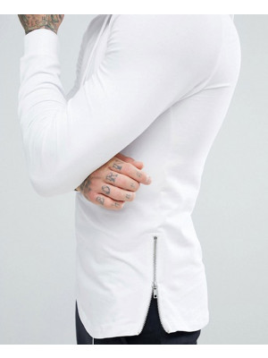 Muscle-Longline-With-Side-Zipper-&-Curved-Hem-Hoodie
