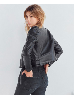 Schott-Perfecto-Cropped-Moto-Leather-Jacket