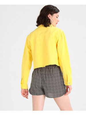 Women-Fashionable-Yellow-Denim-jacket