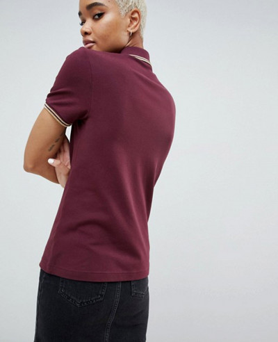 About Apparels Fashion Twin Tipped Polo Shirt With Metallic Trim