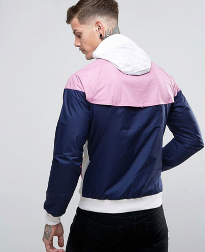 About Apparels Men Custom Windbreaker Jacket In White