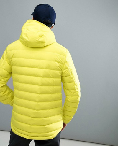 Activewear Tube Weave Puffer Jacket in Neon Yellow