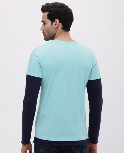 Anchor Printed Dual Layer T Shirt