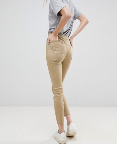 Ankle-Length-Stretch-Skinny-Trousers-in-Stone-With-Zipper-Side-Pockets