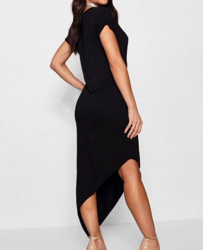 Asymmetric T Shirt Midi Dress