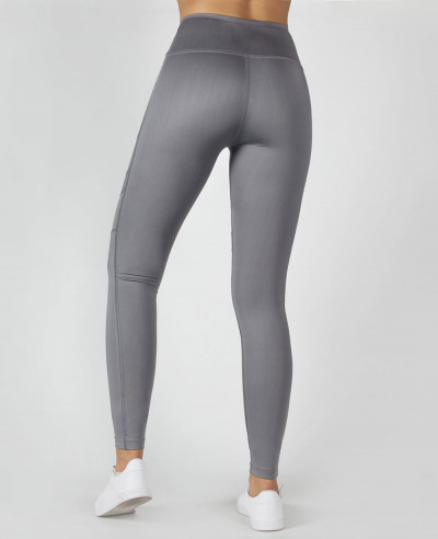 Beyond Limits Super High Waist Mesh Tights Leggings In Grey