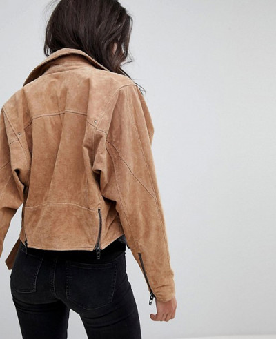 Blank Suede Biker Leather Jacket