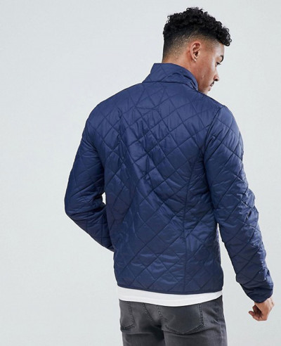Blend Quilted Jacket in Navy