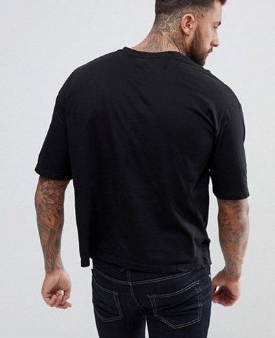 Boxy Fit With Dropped Shoulder In Black T Shirts