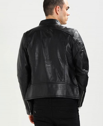 Classic-Men-Biker-Real-Leather-Jacket