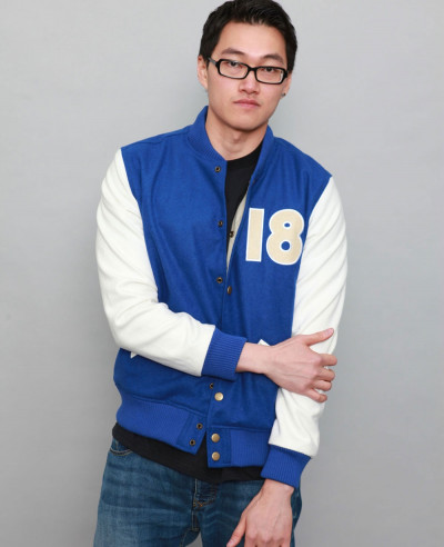 Classic Wool & Leather Sleeve Varsity Baseball Varsity Jacket