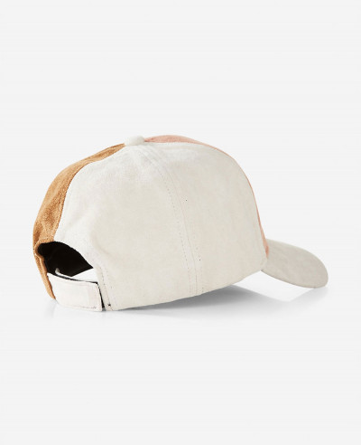 Color Block Faux Suede Baseball Hat
