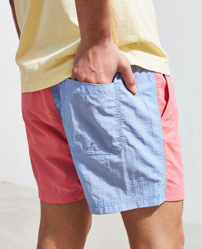 Colorblocked Swim Short