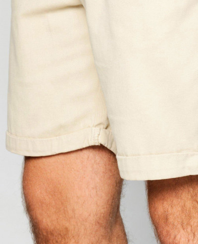 Cotton Fleece Stone Plain Chino Shorts
