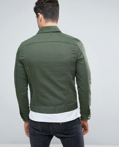 Denim Jacket In Dark Green